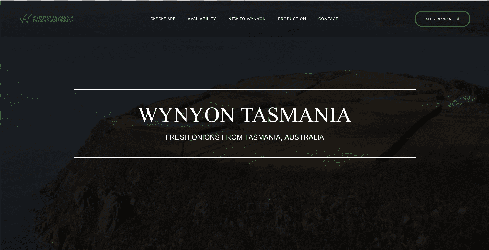 Screenshot of what the Wynyon site looks like on desktop